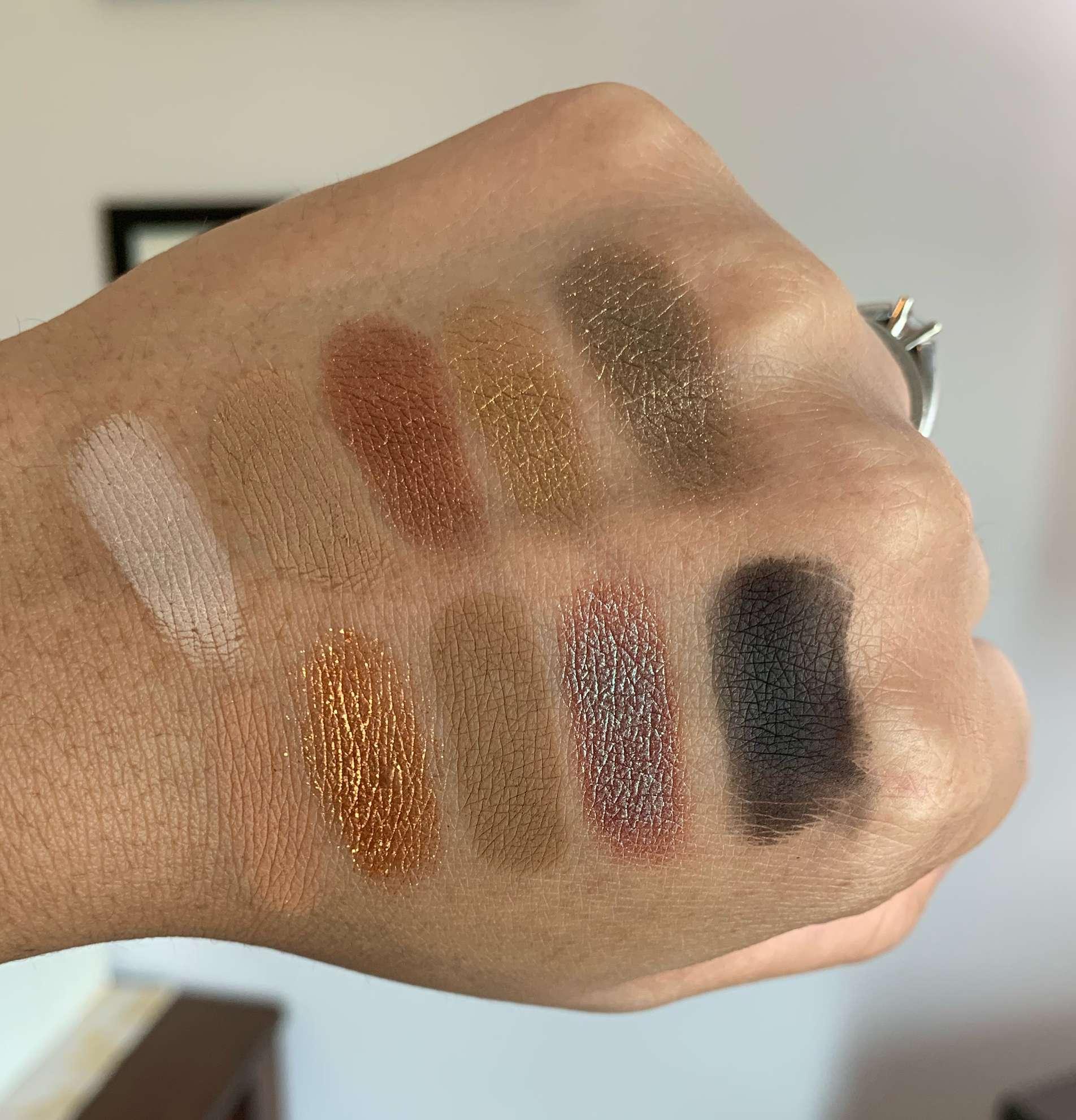 Violet Voss Wild Dahlia Eyeshadow Palette Swatches on Medium Dark Skin