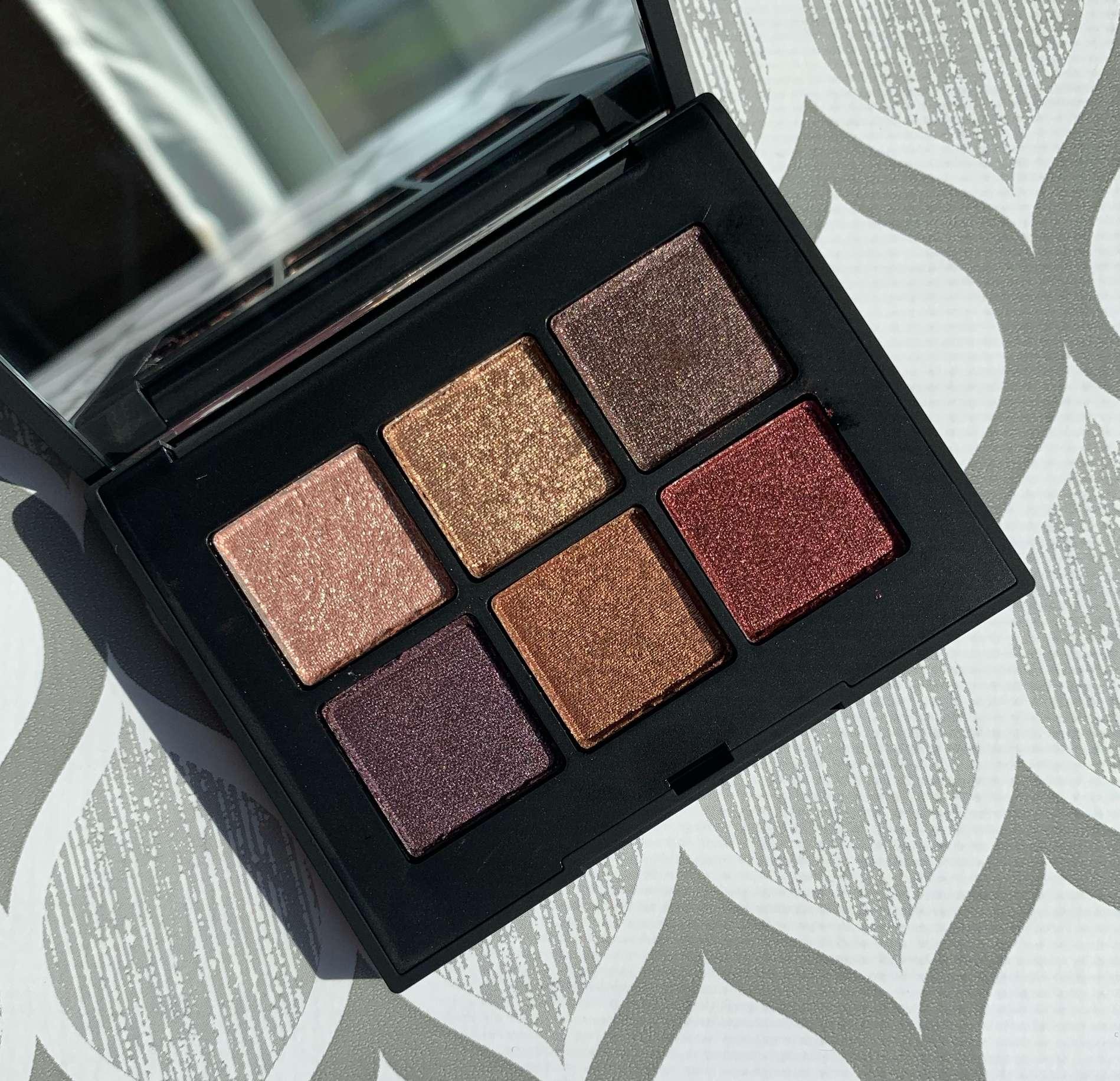 NARS Voyageur Eyeshadow Palette in Quartz (Sephora Exclusive) Swatches on Medium Dark Skin