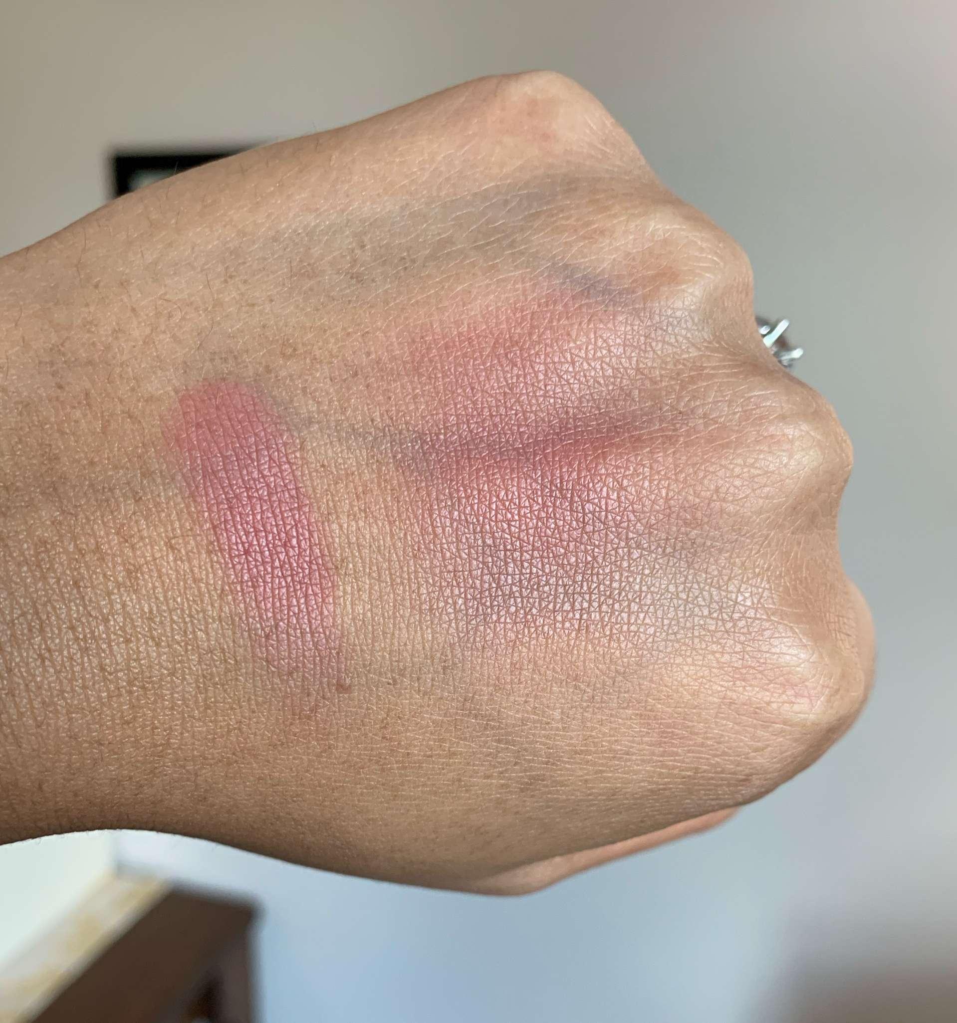 Pat McGrath Labs Divine Blush Divine Rose Swatch on Medium Dark Skin