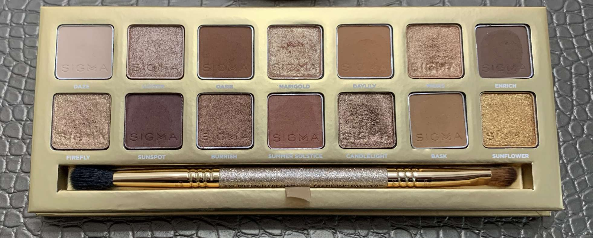 Sigma Beauty Ambiance Palette Review and Swatches on Medium Dark Skin